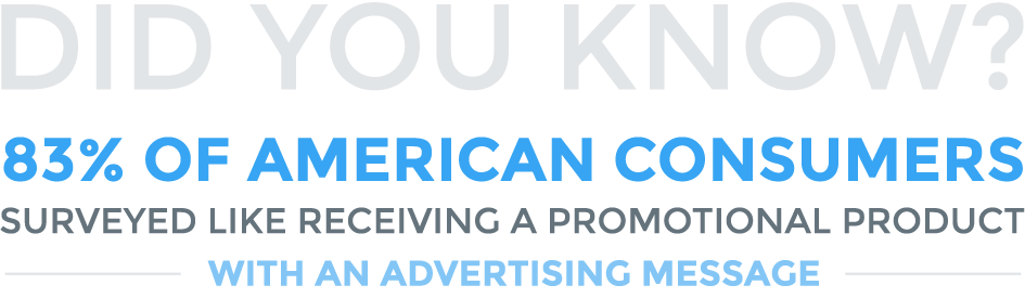 Did You Know? 83% of American Consumers Surveyed Like Receiving A Promotional Product With An Advertising Massage